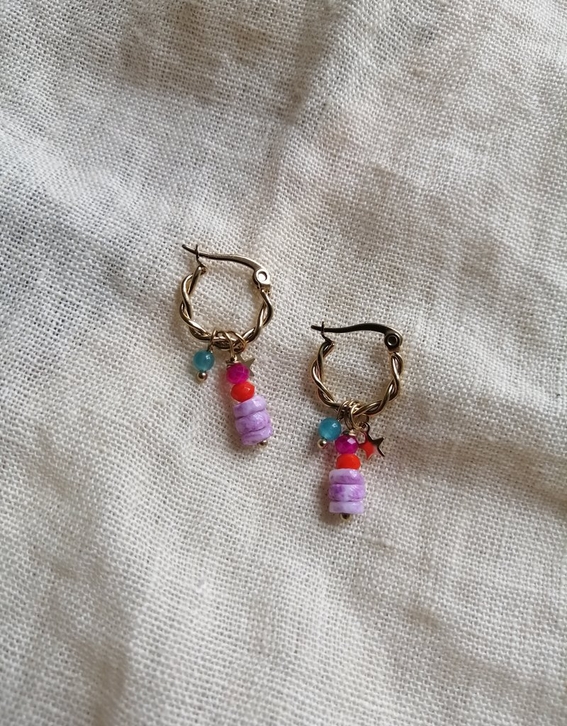 HOOPS WITH BEADS