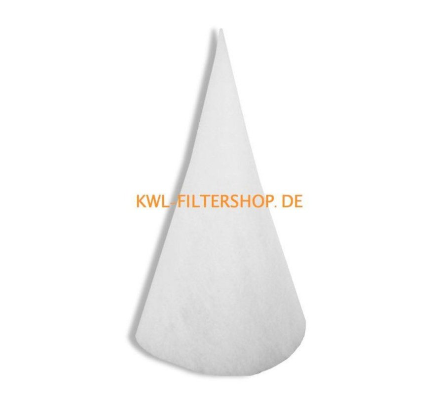 Conefilter for suction column DN 200 - 300mm long Klasse G4 - Copy