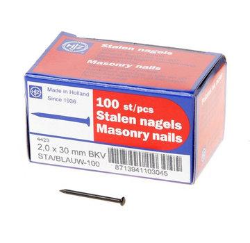 Stalen nagel blauw bolkop 2.0x20 - 1kg