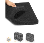 hq-filters PPI 15 Filterfoam - Dimensions: from 0.5 to 2 m² - Thickness from 5 to 100 mm.