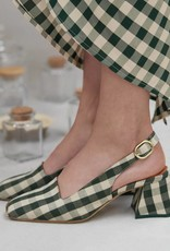 Miista Canar camping seaweed check heels