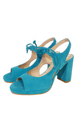Mary Jane Mary Jane pump lichtblauw