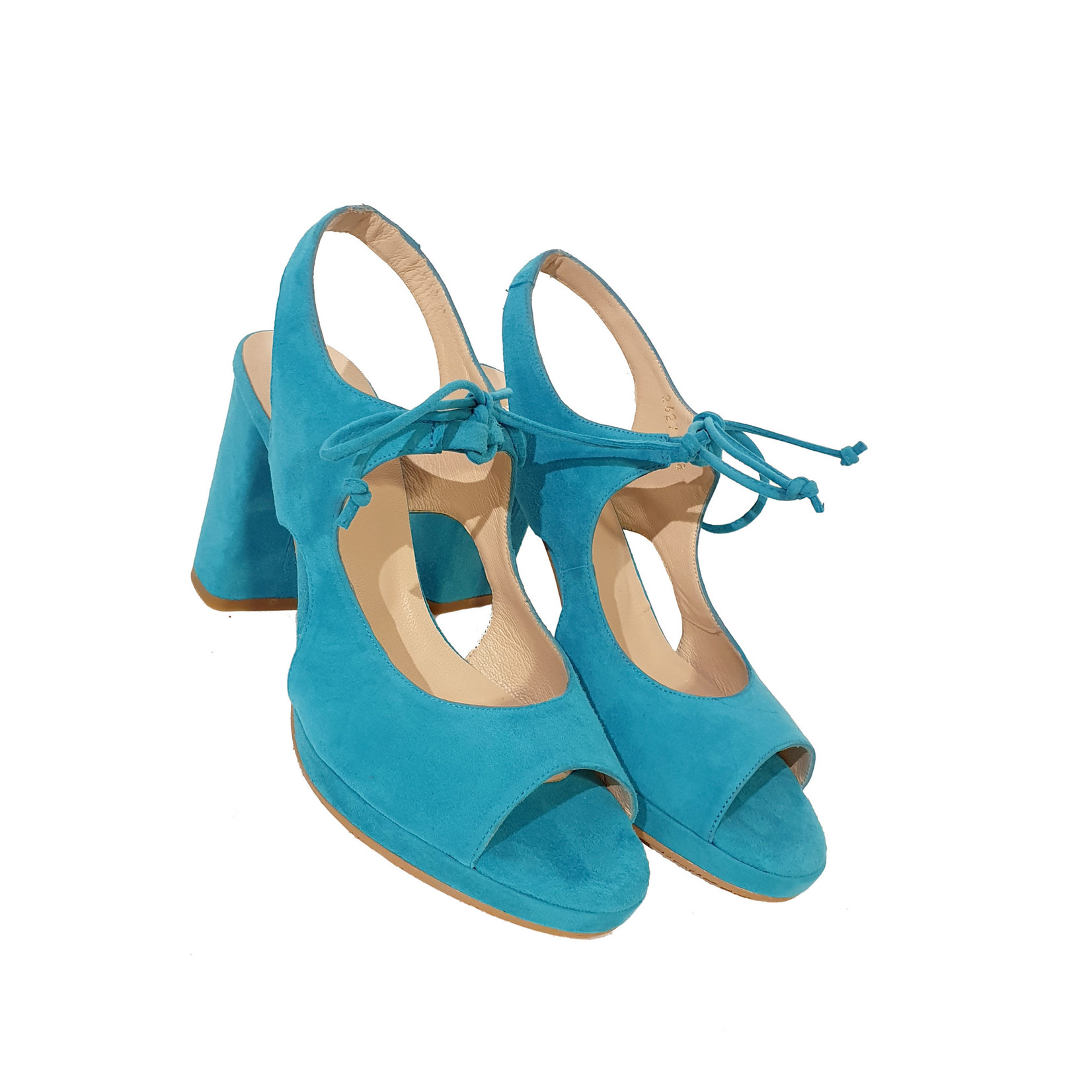 Mary Jane pump lichtblauw