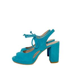 Mary Jane Mary Jane peeptoe pump lichtblauw