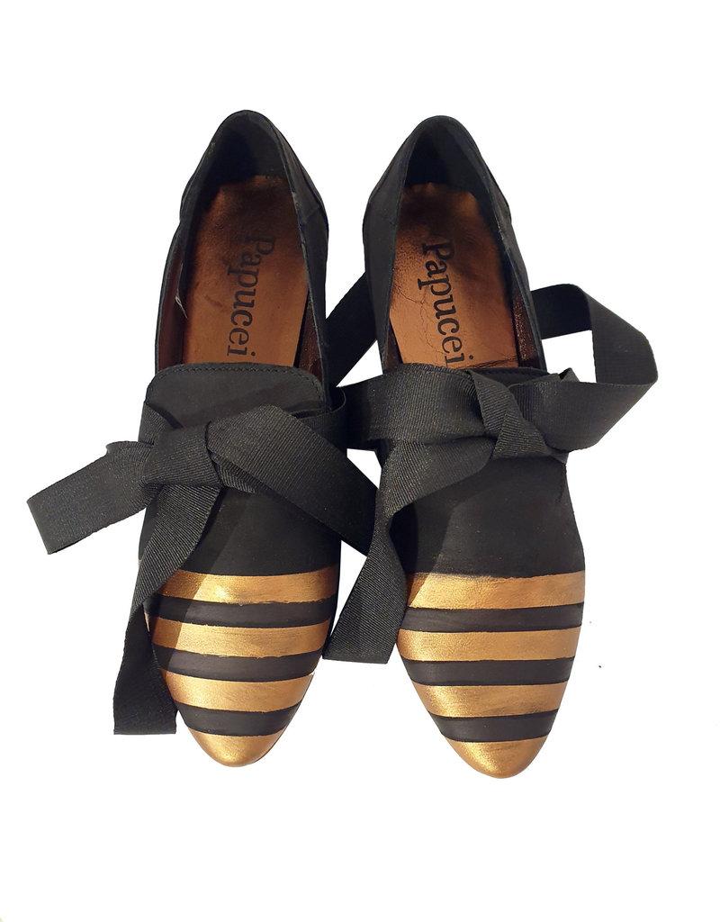 Papucei Ballerina Luther zwart/brons
