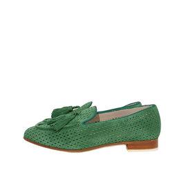 Pertini suède loafer groen