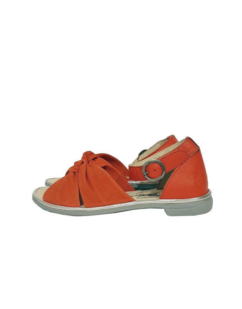 Fly London sandaal Cofa koraal rood