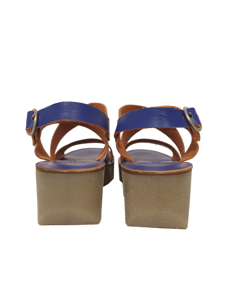 Fly London sandaal Yaze kobalt blauw