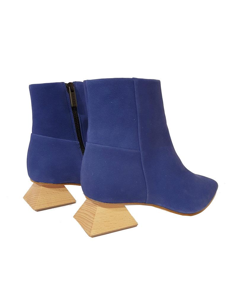 Gladz Gladz enkellaarsje  kobalt blauw