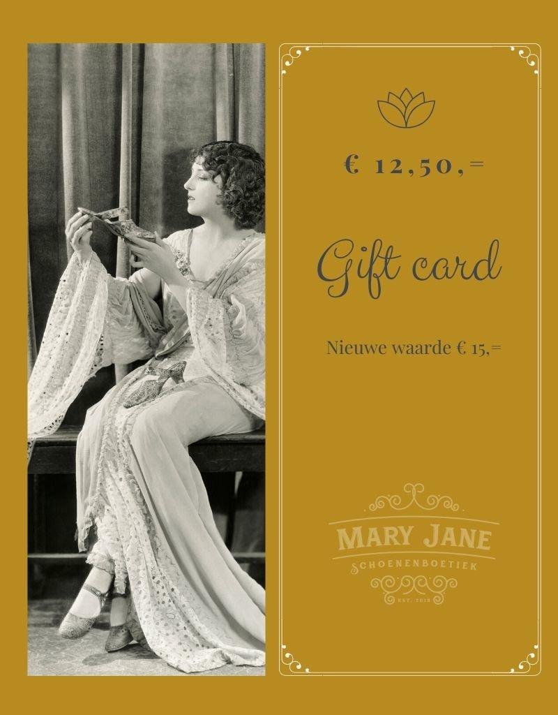 GIFT CARD ter waarde van  € 15,-