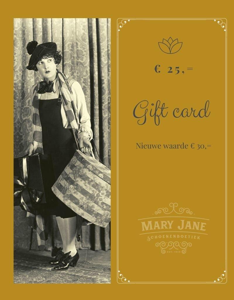 GIFT CARD ter waarde van  € 30,-