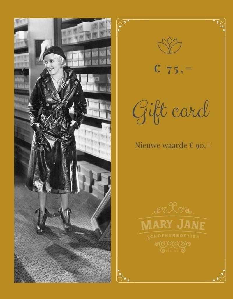 GIFT CARD ter waarde van  € 90,-