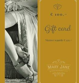 GIFT CARD ter waarde van  €120,-