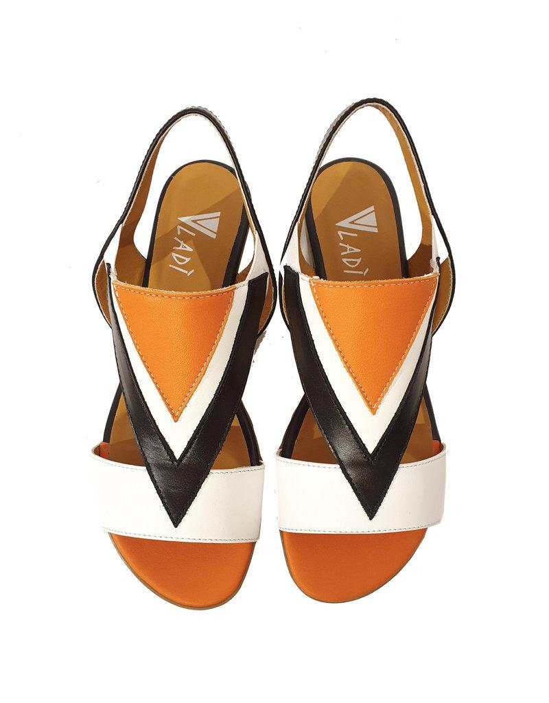 Vladi sandalen oranje/zwart