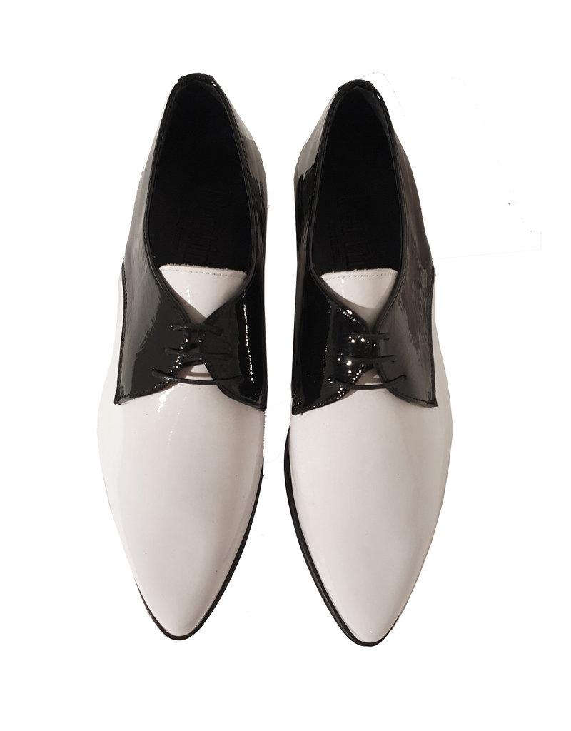 Pertini veterschoen zwart/wit