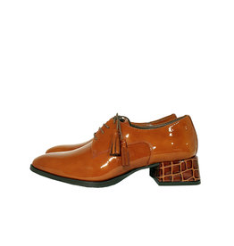 Pertini veterschoen croco cognac