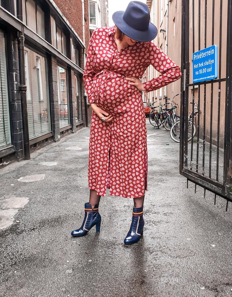 Chie Mihara Enkellaarsje hak blauw