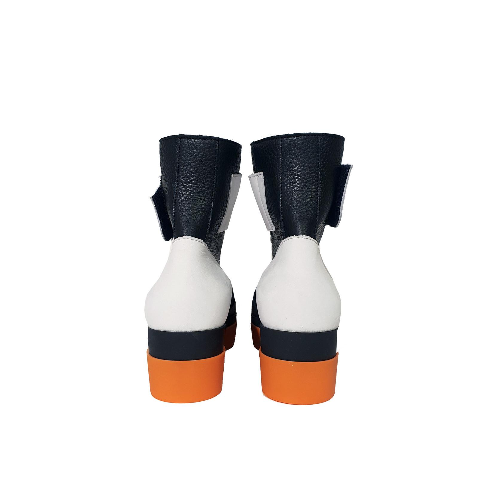 enkellaarsje Fylizz zwart/oranje