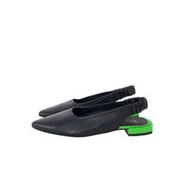 Pertini slingback neon zwart