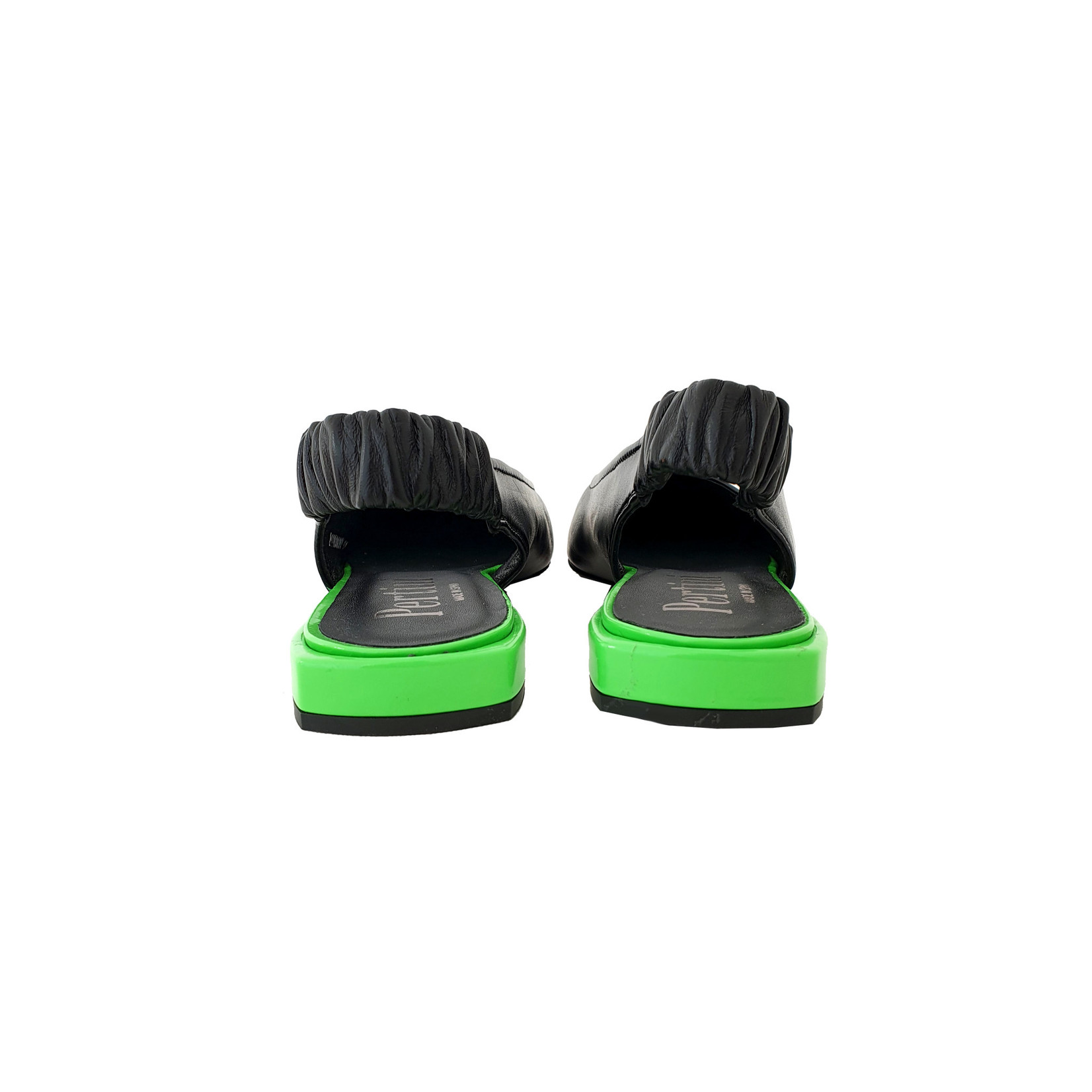 slingback neon zwart