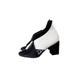 Papucei sandaal NARCISA zwart/wit
