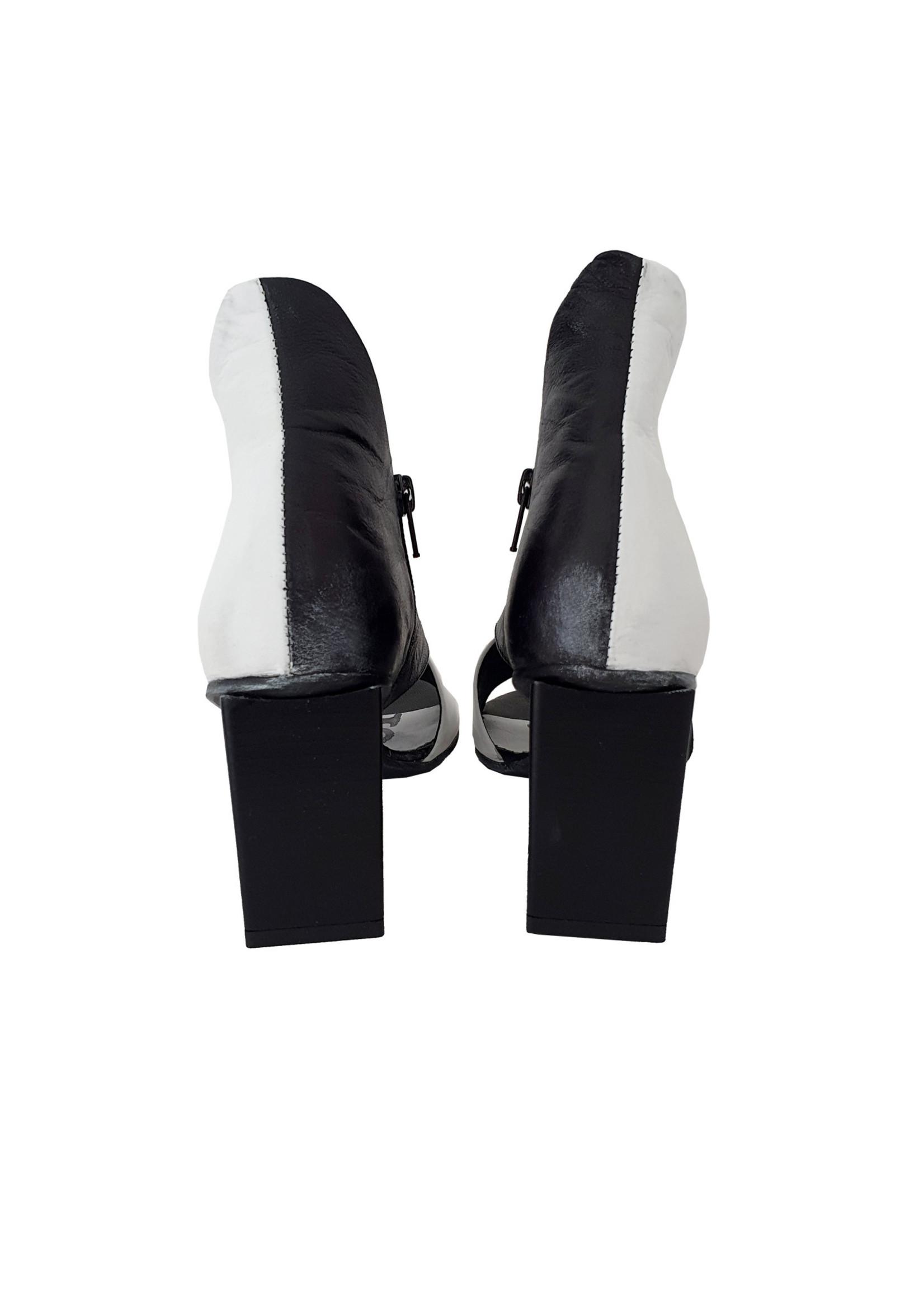 sandaal NARCISA zwart/wit