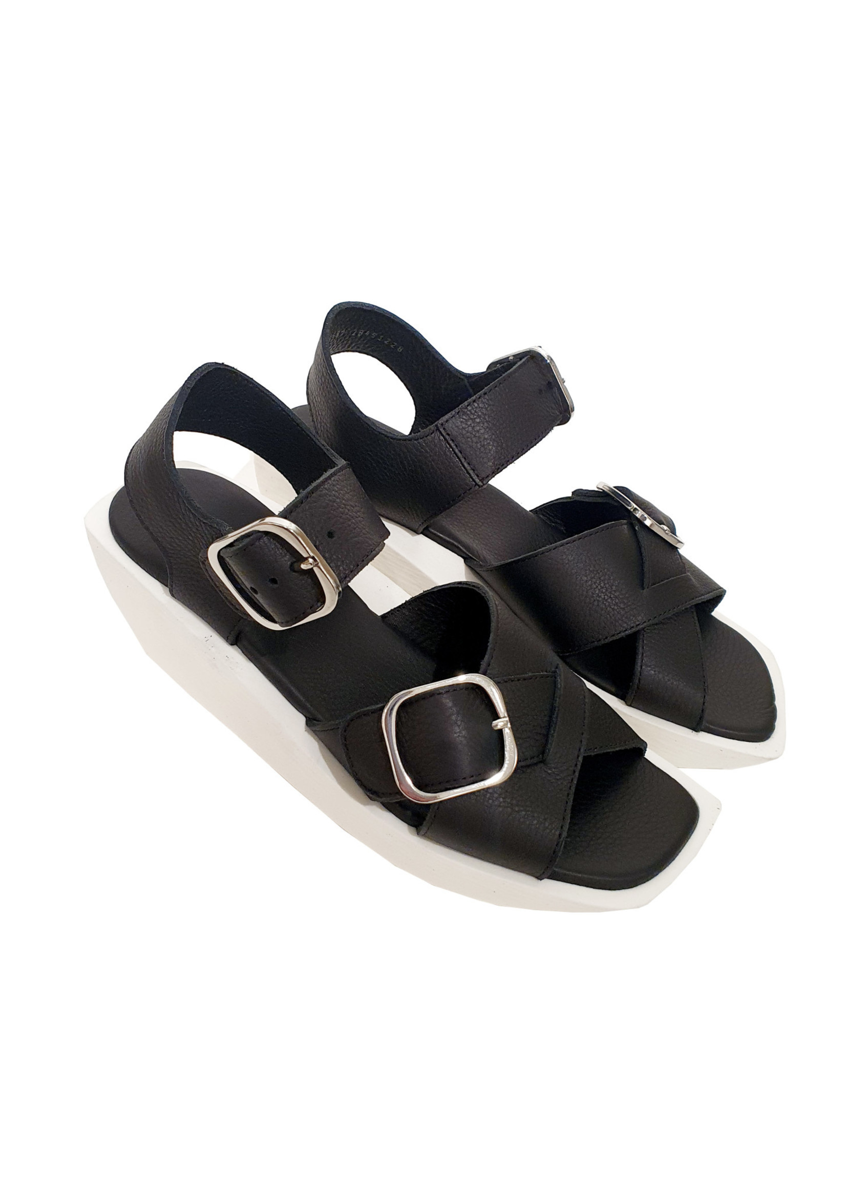 sandaal GIMSKA zwart/wit