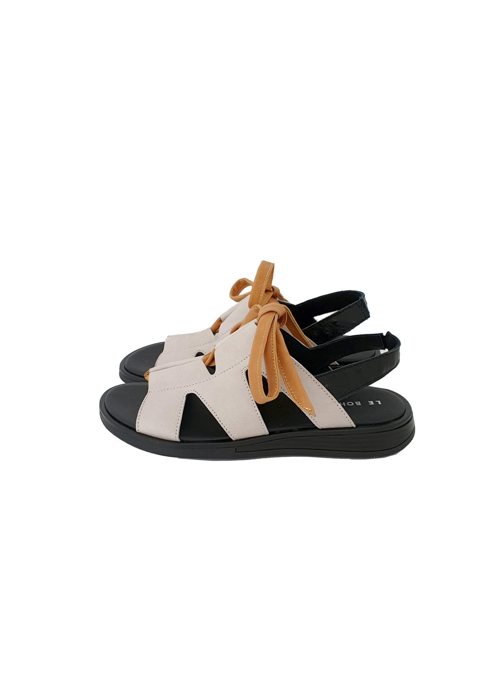 sandaal grijs/oranje