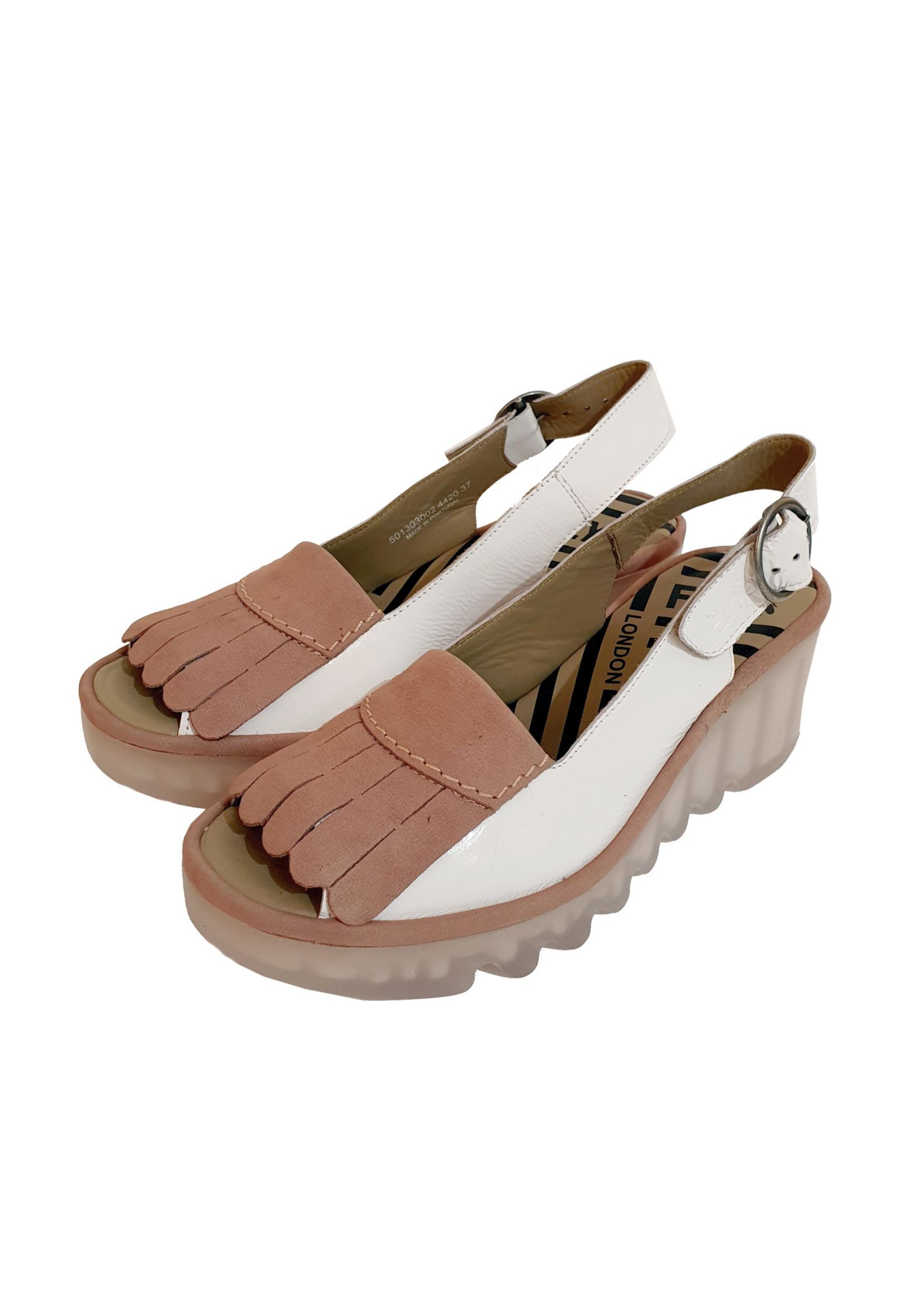 sandaal BIND wit/roze