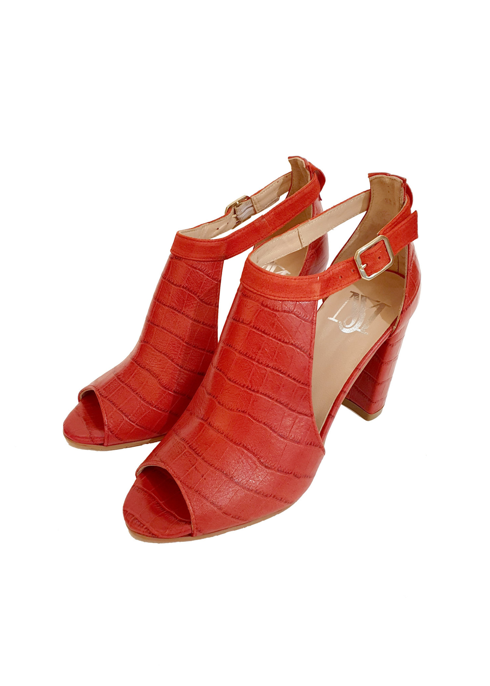 sandaal hak rood