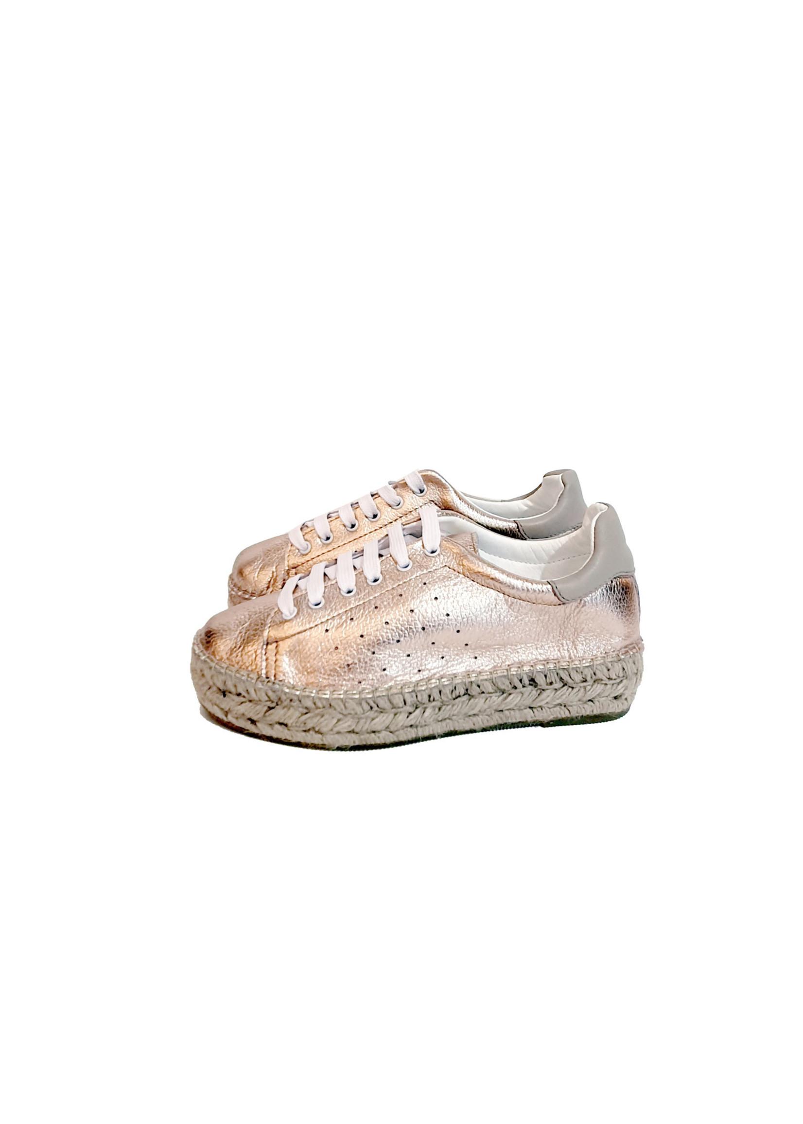Macarena sneaker espadrilles rose goud