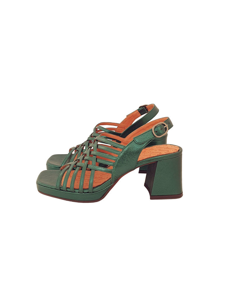 Metallic seventies Chie Mihara sandalen