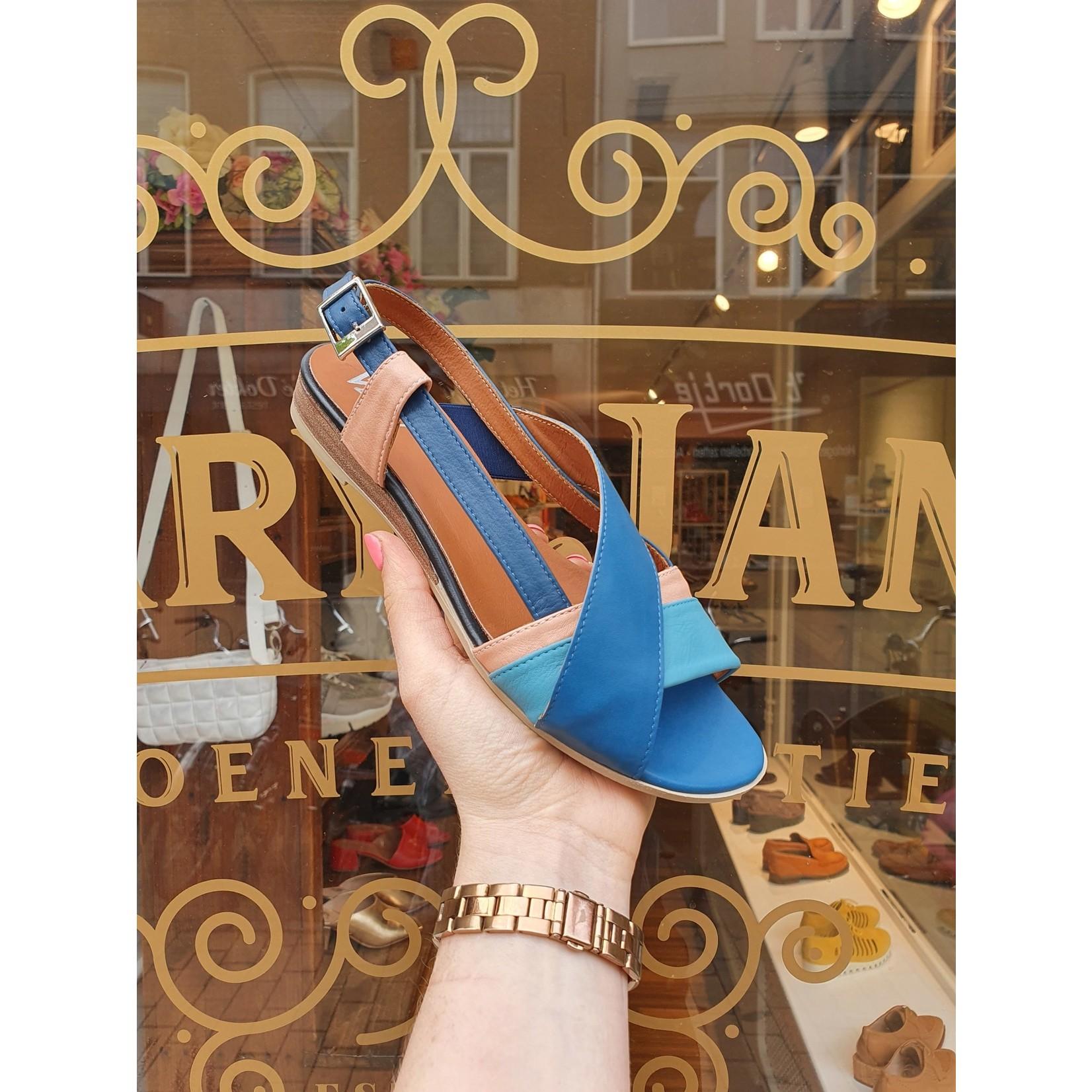 sandaal blauw roze