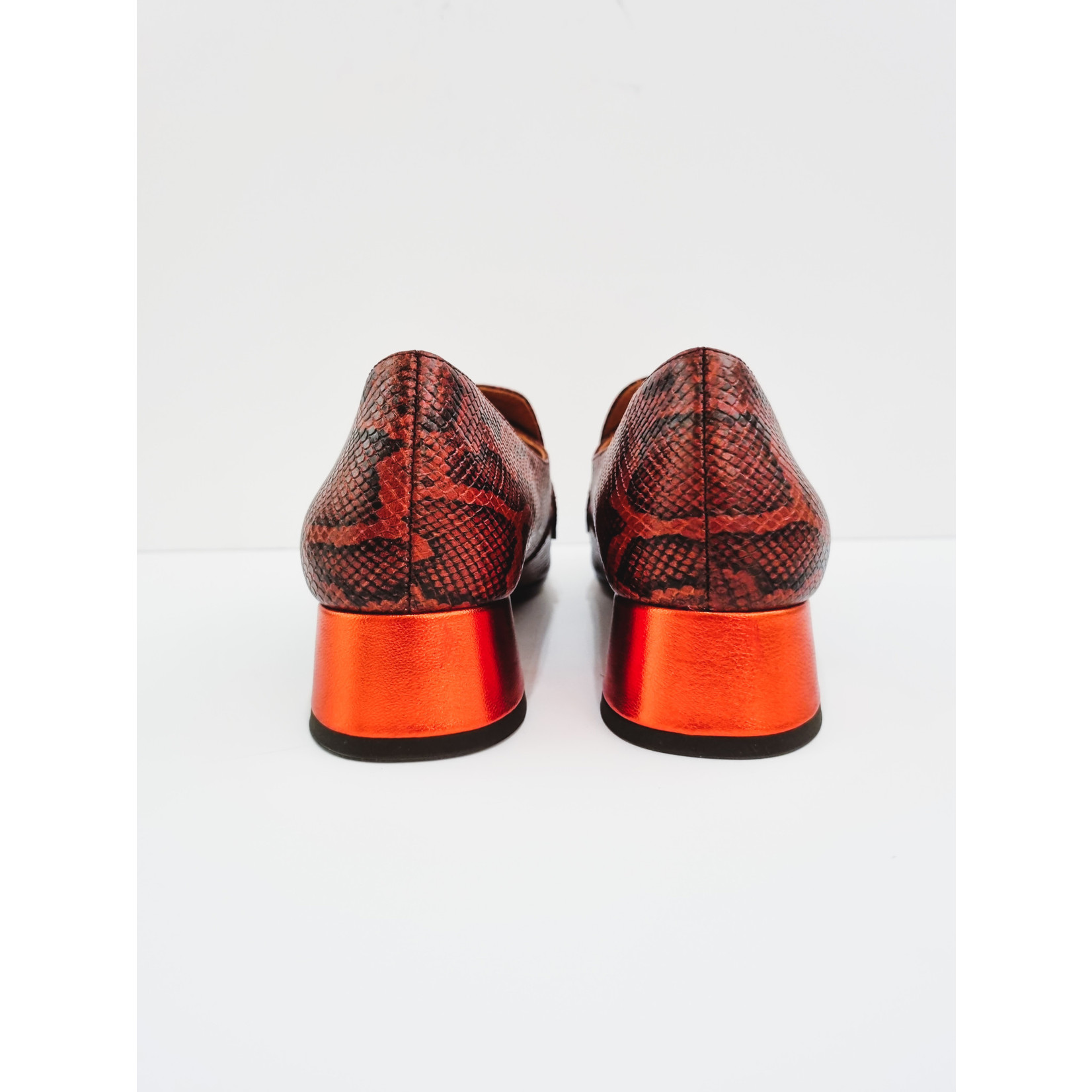 Spicy orange loafers