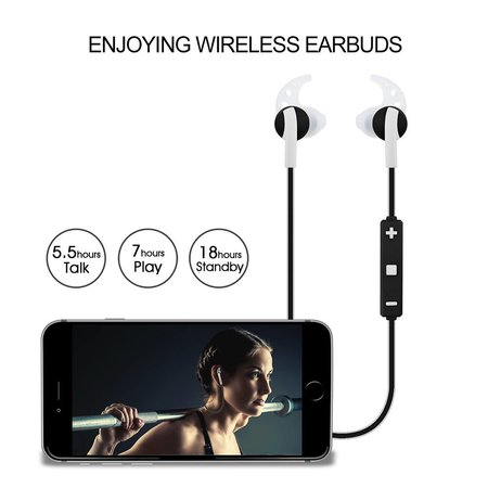 CARAMELLO Caramello Bluetooth Wireless In-Ear Sports Headphones / In-Ears / Plugs / Wireless Headphones / Earphones / Headphones with Microphone | Suitable for running and sports | Wireless range up to 10 meters