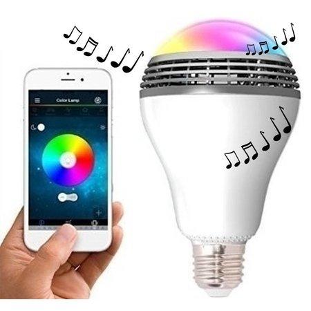 Merkloos Bluetooth LED Lamp inclusief Luidspreker + Gratis App voor Smartphone