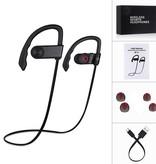 Merkloos Drahtloses Sport-Headset Drahtlose Kopfhörer Bluetooth-Sport-Ohrhörer wasserdicht Wasserabweisende Sport-Ohrhörer mit eingebautem Mikrofon