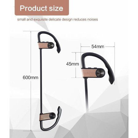 Merkloos Wireless Sports Headset Wireless headphones Bluetooth Sport Earpieces Waterproof Water-repellent Sport Earphones with Built-in Microphone