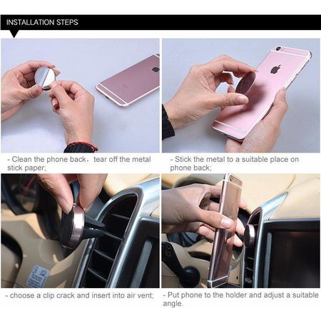 CARAMELLO Smartphone Houder Auto | Magnetische Telefoonhouder voor in Rooster Dashboard | SE/6/7/8/X, iPad Pro, Samsung S7/S8/Note