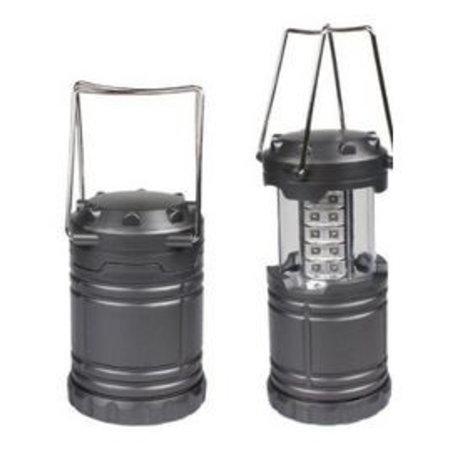 Merkloos Campinglantaarn LED – Tentlamp - Waterbestendig – Ultra Helder – 30 LED Lampjes – Werkt op batterijen – Inklapbaar – Makkelijk mee te nemen – Geschikt voor camping, tuin, stroomloze ruimtes – Ideaal voor noodgevallen (stroomuitval) – Antraciet Grijs
