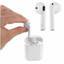 Bluetooth Oortjes - Draadloze Oordopjes - Wireless Headphone - Koptelefoon voor Apple iPhone SE/6/7/8/X, iPad Pro, Samsung S7/S8/Note Kleur Wit