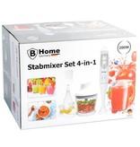 B Camping Germany Staafmixer Set 4-in-1 | Blender Set | Keukenmixer | Mixer met Kom en Garde