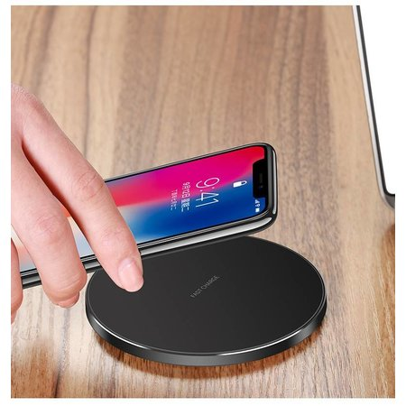 CARAMELLO  CARAMELLO Wireless Charger Qi Standard Wireless Charger | Round Slim Design | Compatible With iPhone X / 8/8 Plus | Samsung Galaxy S9 / S9 Plus / Note 8 / S8 / S8 Plus | For All Qi-Enabled Phones