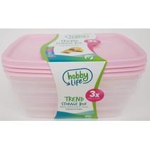 Frische Speisenschalen 1,2 Liter 3 Stück Mikrowellen- und spülmaschinenfest BPA frei Enthält KEINE schädlichen Substanzen Hochwertig