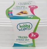 Hobby Life Vershoudbakjes 1,2 Liter | 3 Stuks | Magnetron en Vaatwasser Bestendig | BPA Vrij | Bevat GEEN Schadelijke Stoffen | Hoogwaardige Kwaliteit
