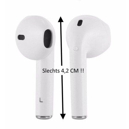 CARAMELLO Draadloze Mini Oordopjes  - Earpods voor Apple iPhone en Samsung Galaxy - Bluetooth Koptelefoon -  Draadloze Sport Koptelefoon met Ingebouwde Microfoon