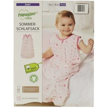 Baby Schlafsack 100% Umweltbewusstsein aus Bio-Baumwolle Produziert und zertifiziert nach der World Organic Textile Standard Size 70 cm Von 3 bis 12 monaten Mit Sternen drucken.