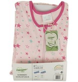 Papagino Baby Schlafsack 100% Umweltbewusstsein aus Bio-Baumwolle Produziert und zertifiziert nach der World Organic Textile Standard Size 70 cm Von 3 bis 12 monaten Mit Sternen drucken.