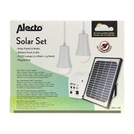 Alecto Mobiele Zonnepaneel Set Voor Hiking & Outdoor Laadt Telefoon/Tablet/Laptop op