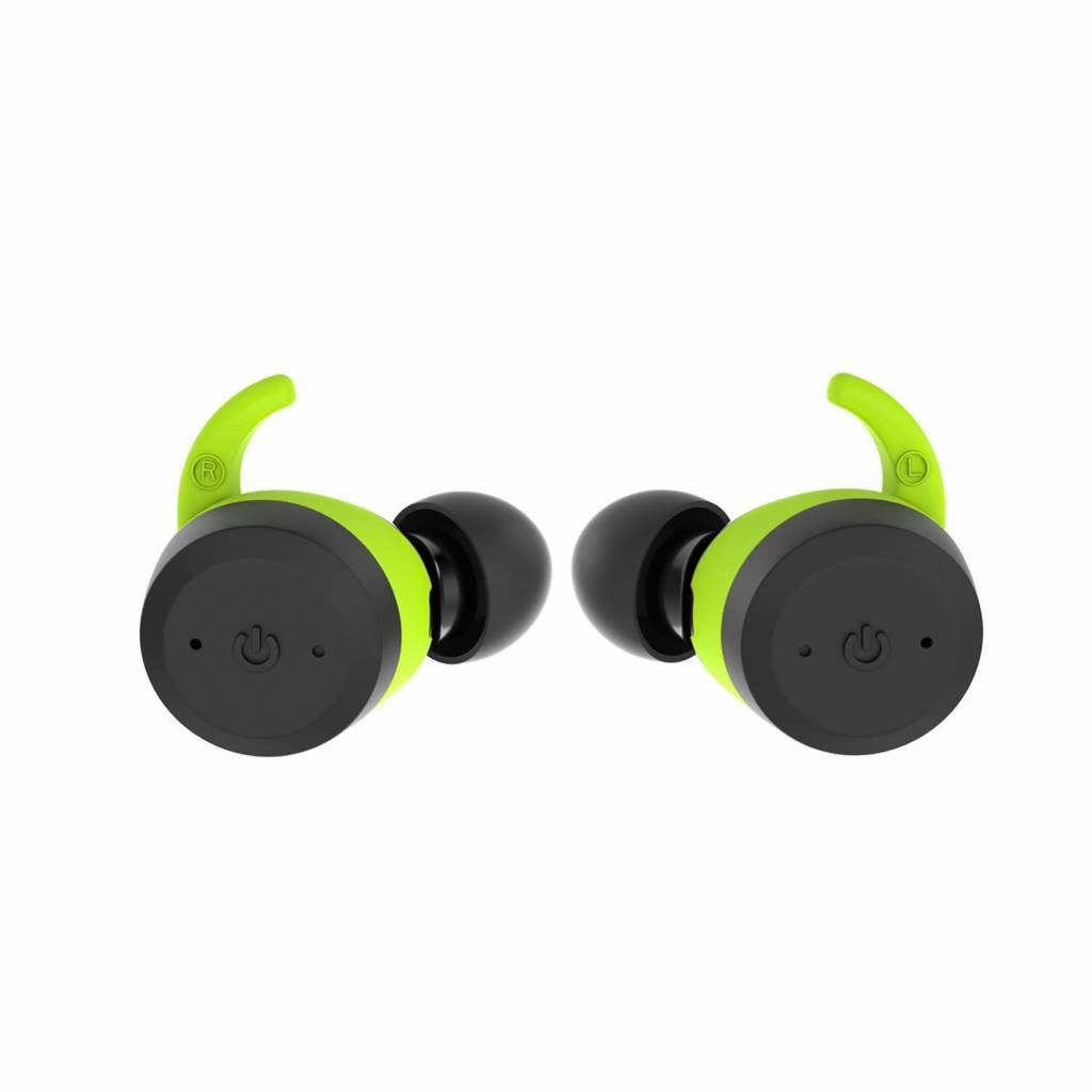 CARAMELLO Waterproof 5.0 True Wireless Earbuds,Super Bass Sound Built-in TWS Technology Interchangeable Small and Over-Ear Earhooks in Earphone